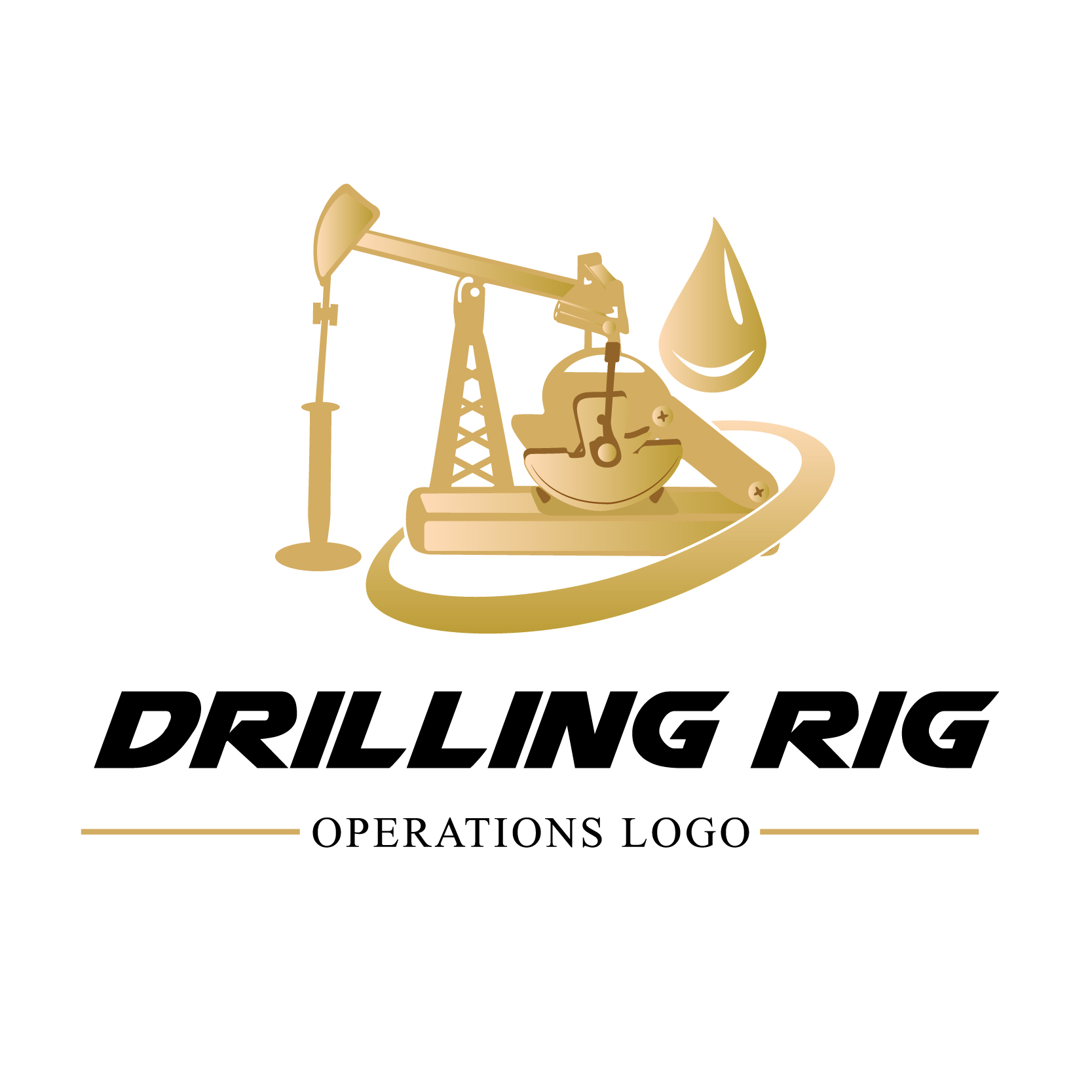 Oil Rig Vector Logo