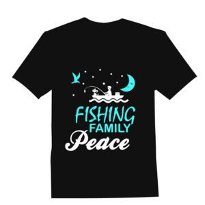 Fishing Family Peace T-shirt Design