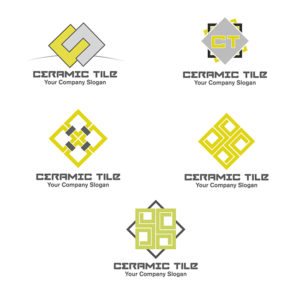 Ceramic Tiles Vector Logo Set