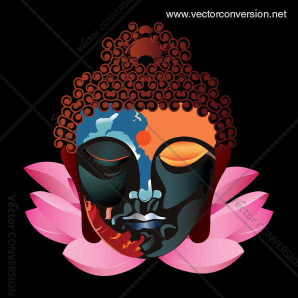 Buddha Color vector Illustration