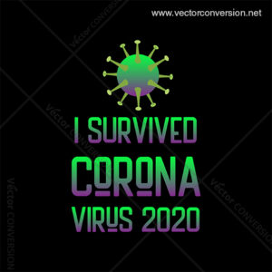 I Survived Corona Virus Vector T-shirt Design