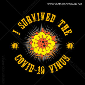 I Survived Covid-19 Virus Vector T-shirt Design